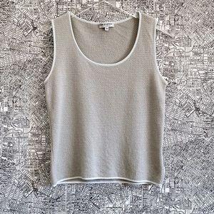 Armani Collezione Cashmere Blend Knit Shell Tank
